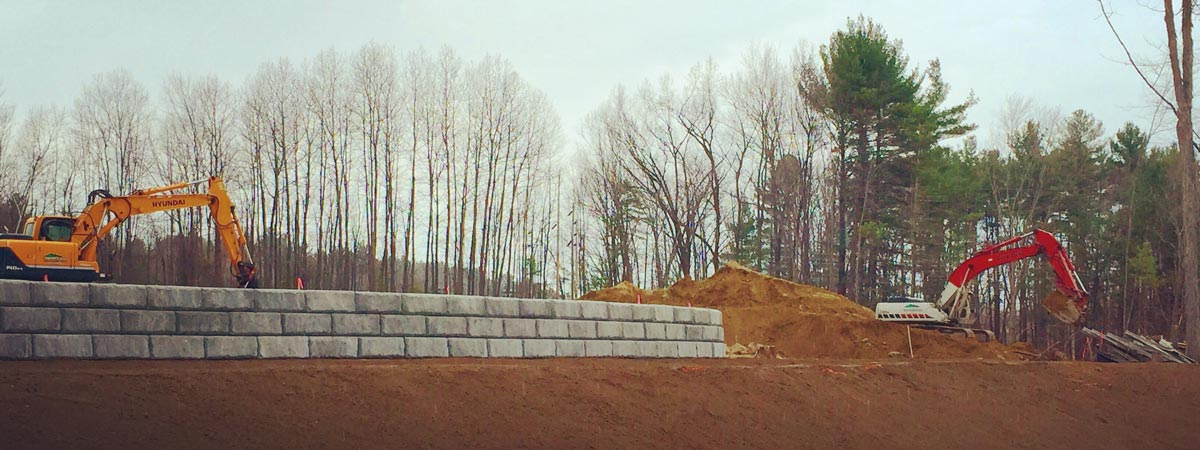 Specialty site work services - Retaining Wall Construction - Leighton A. White, Inc., Milford, NH